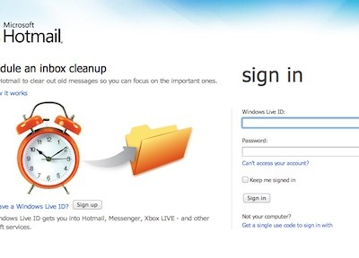 Phishing a Hotmail mediante alertas falsas