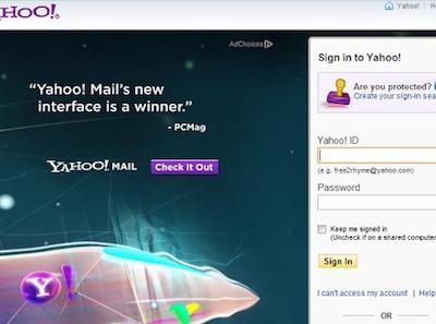Ataques de phishing con alertas falsas de Yahoo! Mail
