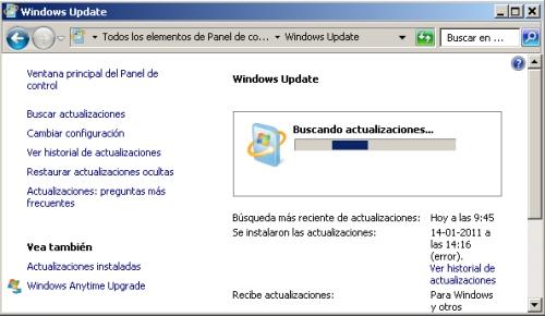 Windows recibe actualización de seguridad