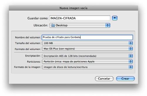 Cifrar archivos en Mac OS 2