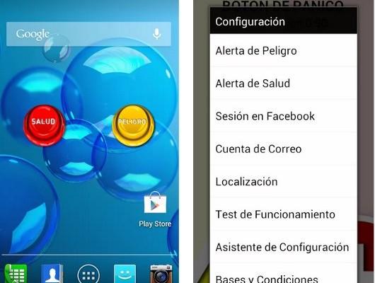 Botón de Pánico AsT, advertencias desde tu Android