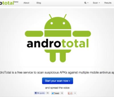 AndroTotal, una forma diferente de proteger tu móvil